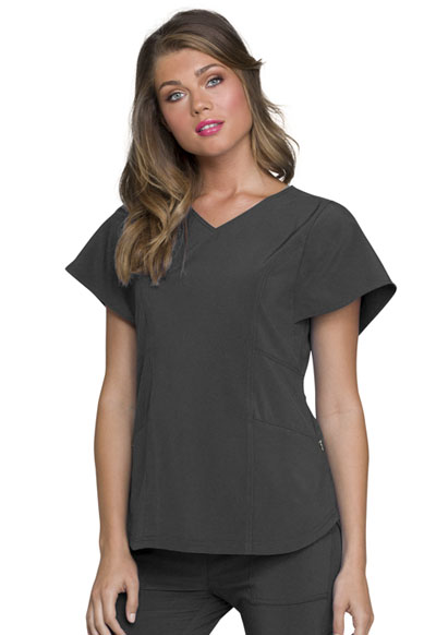 Love Always Women's V-Neck Top Gray