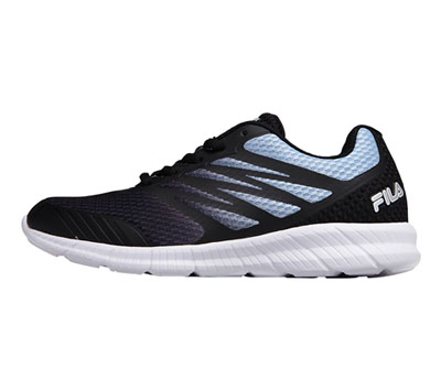 Fila Women MEMORYFANTOM3 Black/White/Metallic Silver
