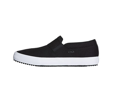 Infinity Men's MRUSH Black Canvas with White