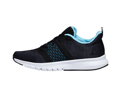Reebok Women's PRINTLITERUSH Black,AshGrey,DigitalBlue,Wht