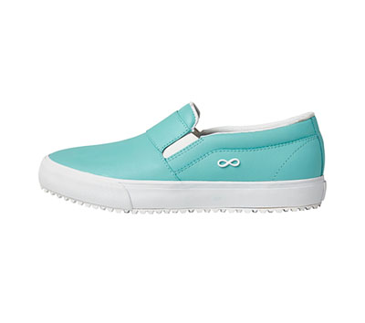Infinity Footwear Women's RUSH Aruba Blue, White