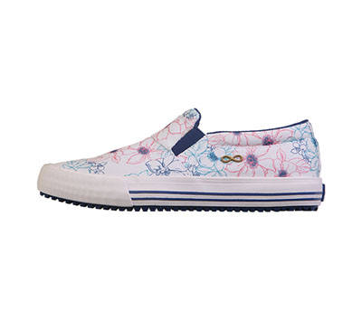 Infinity Footwear Shoes Women's RUSH Canvas Brilliant Floral, White