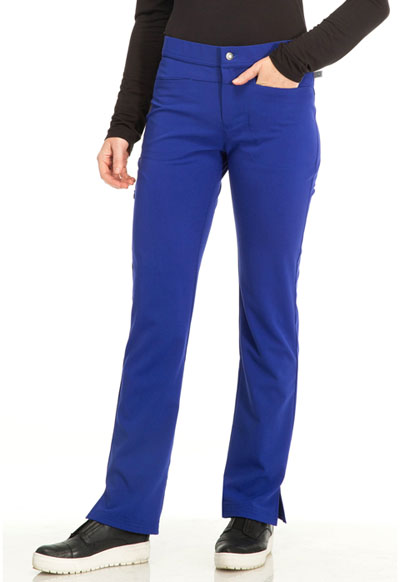 Sapphire Women's Roma Low Rise Zip Fly Slim Pant Blue