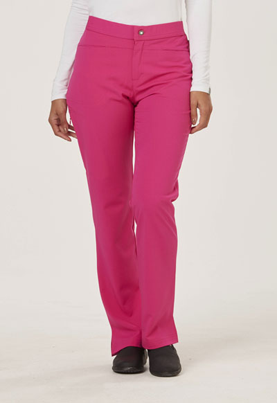 Sapphire Women's Roma Low Rise Zip Fly Slim Pant Pink