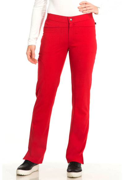 Sapphire Women's Roma Low Rise Zip Fly Slim Pant Red