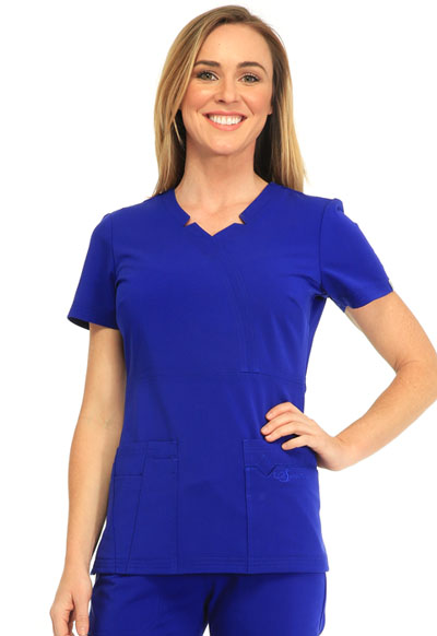 Sapphire Women's Madison Mock Wrap Top Blue