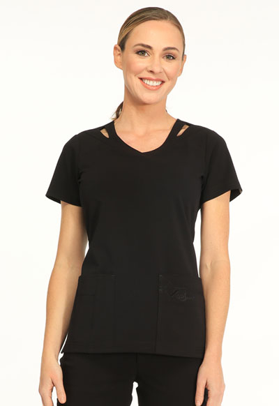 Sapphire Women's Paris V-Neck Top Black