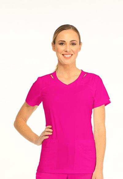 Sapphire Women's Paris V-Neck Top Pink