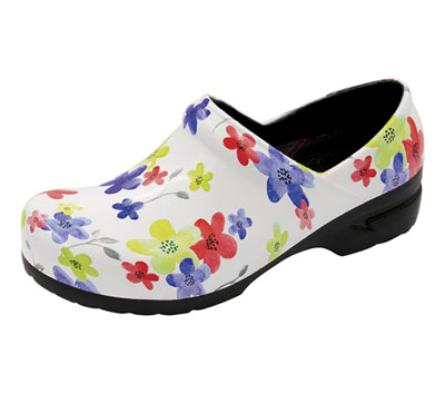 Anywear Women's Closed Back Plastic Clog Magnificent Meadow