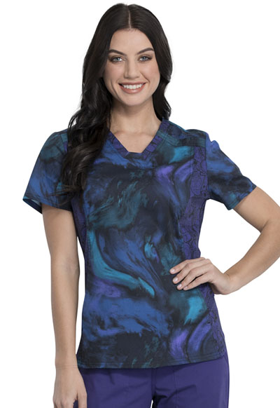 Licensed Prints Women V-Neck Top Far Far Away