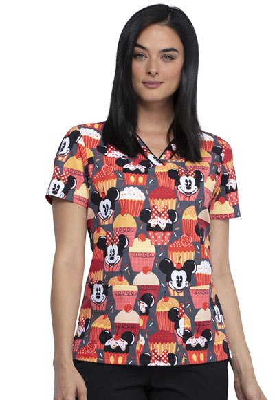 Licensed Prints Women V-Neck Top Cute As A Cupcake