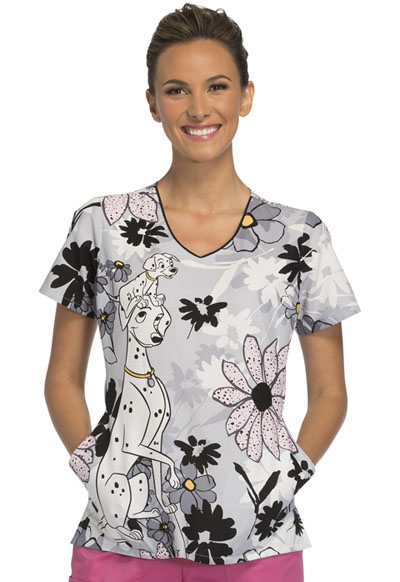 Cherokee Licensed Women's V-Neck Top A Stroll In The Park