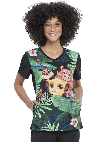 Licensed Prints Women V-Neck Top Wild Things