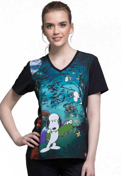 Licensed Prints Women's V-Neck Top Count Snoop-ula