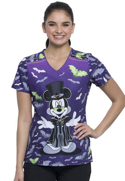 Licensed Prints Women V-Neck Top Vamp