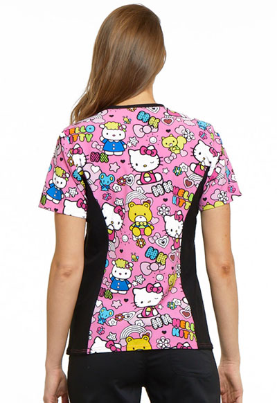 7de2d039d4a Photograph of Licensed Prints Women's V-Neck Knit Panel Top Color Me Hello  Kitty TF636