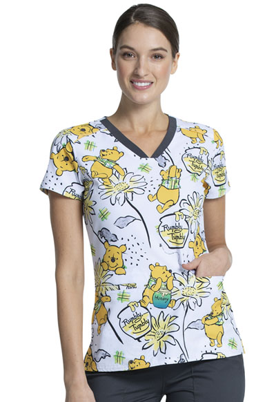 Licensed Prints Women V-Neck Top Rumbly Tumbly