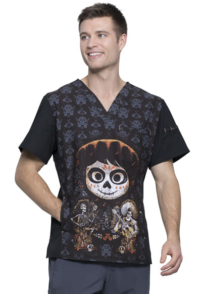 Licensed Prints Men Men's V-Neck Top Disney�Pixar Coco