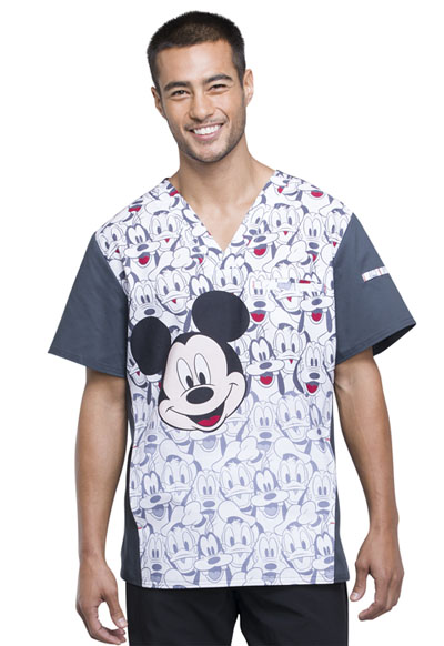 Licensed Prints Men's Men's V-Neck Top Mickey and Friends
