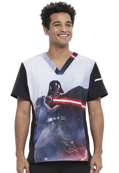Licensed Prints Men Men's V-Neck Top Sith Lord
