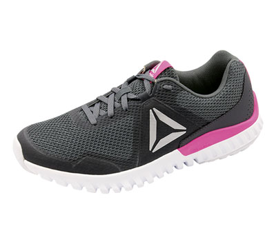 Reebok Women's Athletic Footwear Alloy,AshGrey,Poison,Pink,Whit