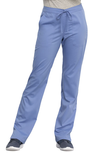 WW Revolution Women's Mid Rise Straight Leg Drawstring Pant Blue