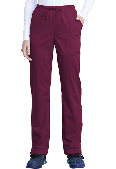 WW Revolution Tech Women Mid Rise Straight Leg Drawstring Pant Red