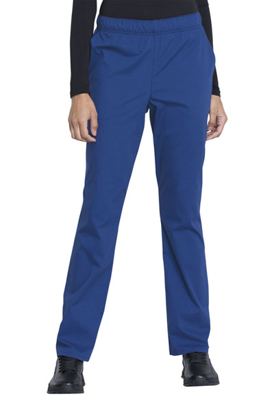 Workwear WW Professionals Women's Natural Rise Tapered Leg Drawstring Pant Blue