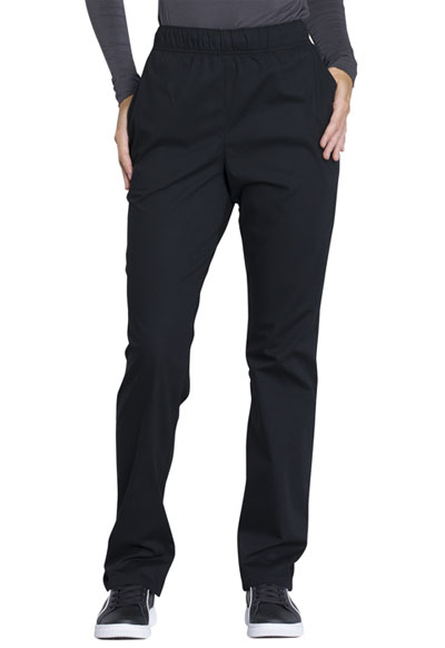 Workwear WW Professionals Women's Natural Rise Tapered Leg Drawstring Pant Black