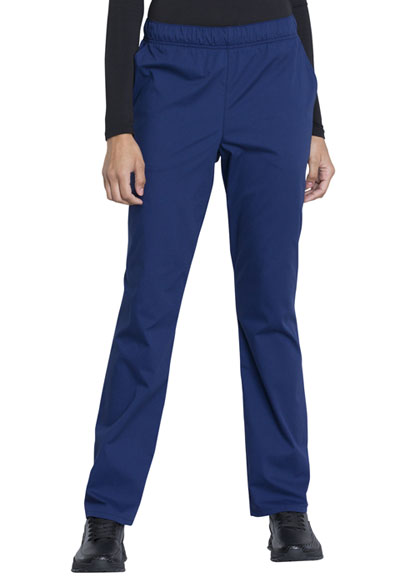 Workwear WW Professionals Women Natural Rise Tapered Leg Drawstring Pant Blue