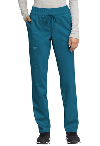 WW Revolution Women Mid Rise Tapered Leg Drawstring Pant Blue