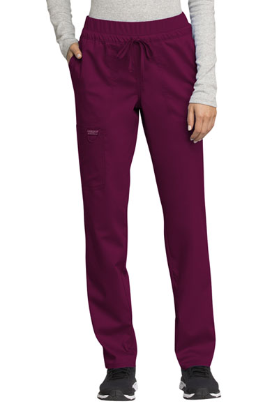 WW Revolution Women's Mid Rise Tapered Leg Drawstring Pant Red