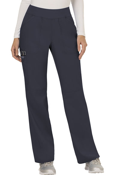 WW Revolution Women's Mid Rise Straight Leg Pull-on Pant Gray