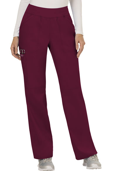 WW Revolution Women's Mid Rise Straight Leg Pull-on Pant Red