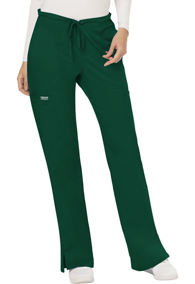 WW Revolution Women Mid Rise Moderate Flare Drawstring Pant Green