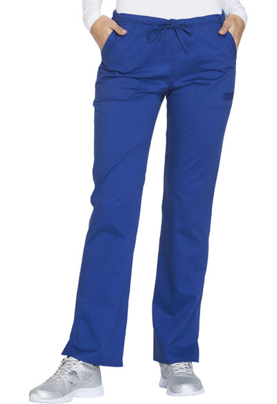 WW Core Stretch Women's Mid Rise Straight Leg Drawstring Pant Blue