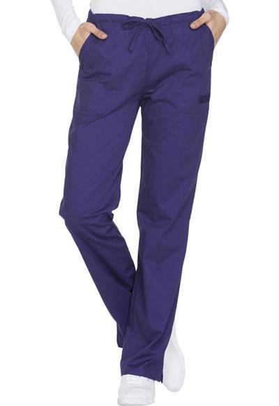 4055ed9df61 Photograph of WW Core Stretch Women's Mid Rise Straight Leg Drawstring Pant  Purple WW130-GRPW