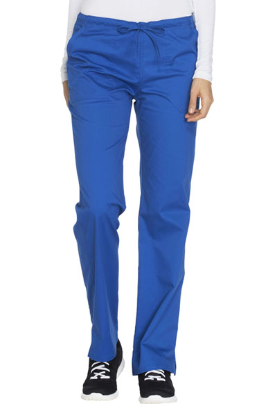 Scrubs Cherokee Workwear Mid Rise Straight Leg Pant WW130 CARW Carribean Blue