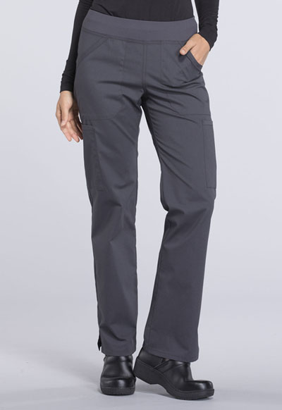 94c2f932876 WW Professionals Mid Rise Straight Leg Pull-on Cargo Pant in Pewter ...