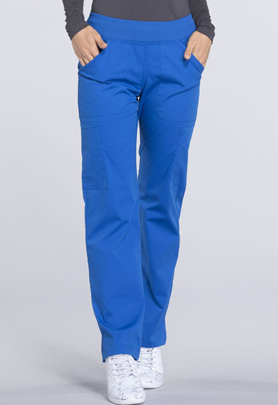 ecae399e8ff WW Professionals Women's Mid Rise Straight Leg Pull-on Cargo Pant Blue