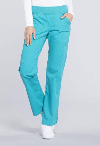 ad19d05f1c6 Photograph of WW Professionals Women's Mid Rise Straight Leg Pull-on Cargo  Pant Blue WW170P