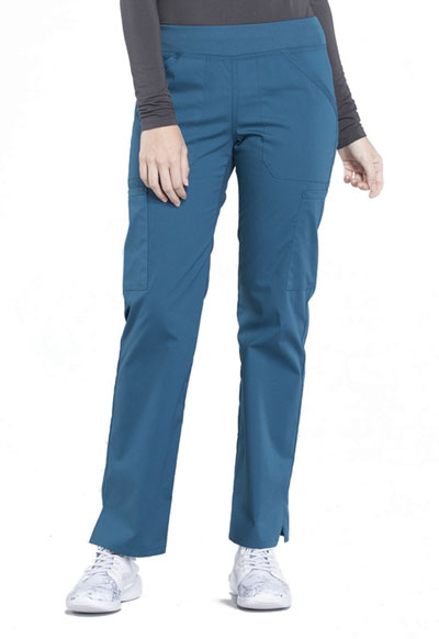 Workwear WW Professionals Women Mid Rise Straight Leg Pull-on Cargo Pant Blue