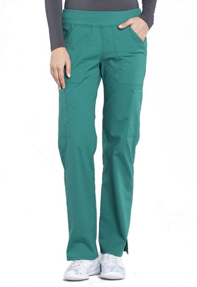 Workwear WW Professionals Women's Mid Rise Straight Leg Pull-on Cargo Pant Green