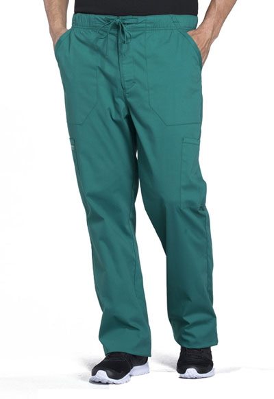 WW Professionals Men's Men's Tapered Leg Drawstring Cargo Pant Green