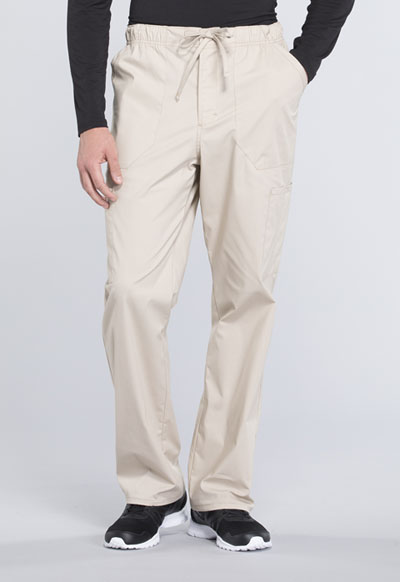 WW Professionals Men's Men's Tapered Leg Drawstring Cargo Pant Khaki