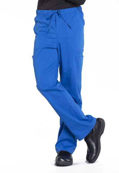 Workwear WW Professionals Men Men's Tapered Leg Drawstring Cargo Pant Blue