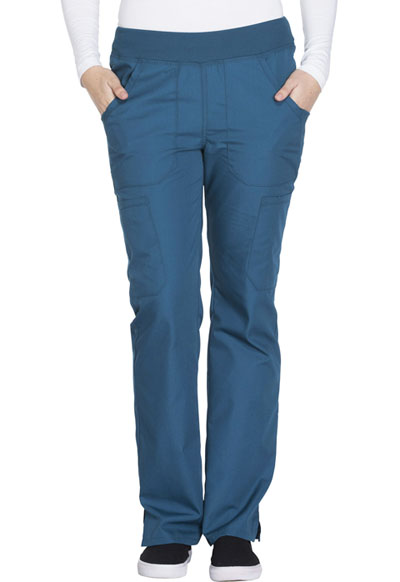 WW Originals Women's Mid Rise Straight Leg Pull-on Cargo Pant Blue