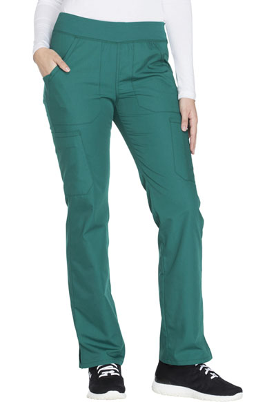 WW Originals Women's Mid Rise Straight Leg Pull-on Cargo Pant Green