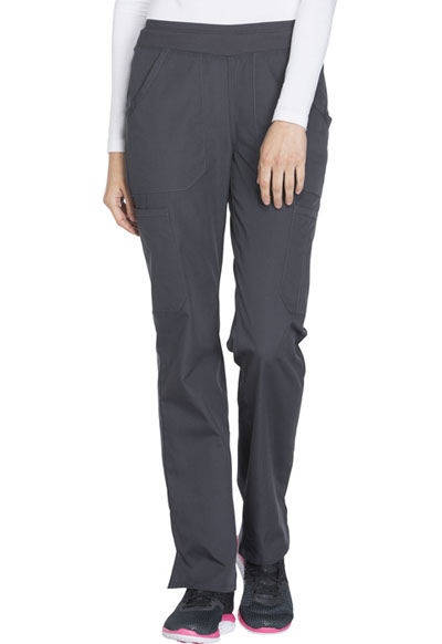 WW Originals Women's Mid Rise Straight Leg Pull-on Cargo Pant Gray