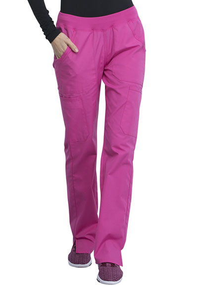 WW Originals Women Mid Rise Straight Leg Pull-on Cargo Pant Pink